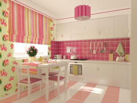 Интерьер кухни 9 м² (обзорный вид при дневном освещении)