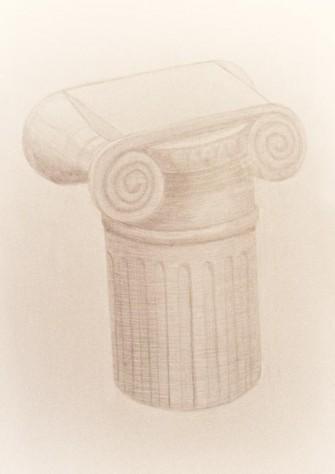 Древнегреческая колонна, ионический ордер