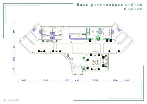 План расстановки мебели в холле