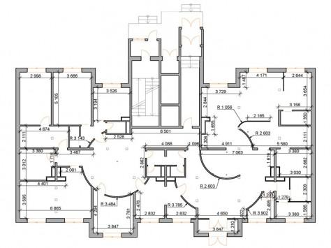 Обмерный план салона после перепланировки