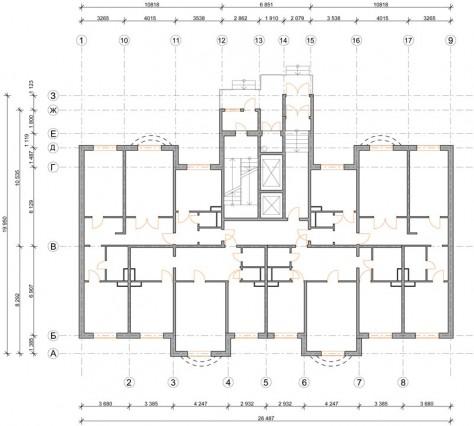 План существующего помещения