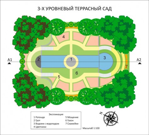 Террасный сад_план