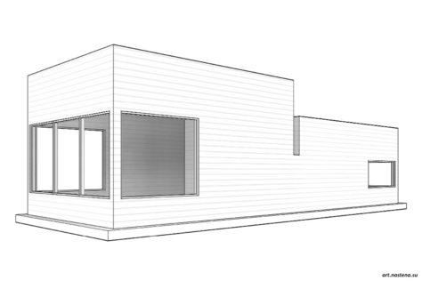 3d вид дома №1