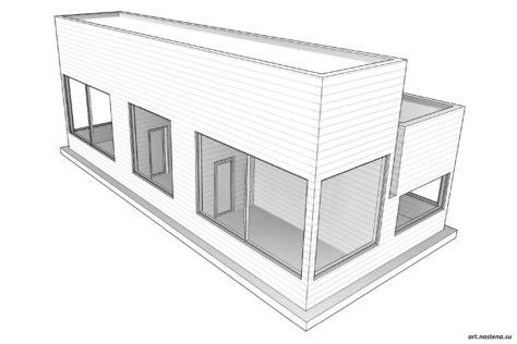 3d вид дома №2