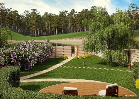 Панорамный вид с верхнего сада
